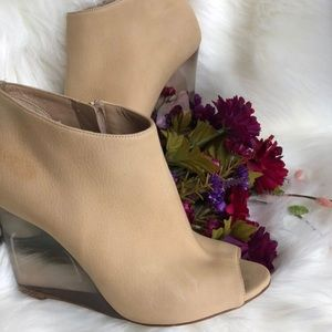 Burberry Suede Lucite Ankle Boots Booties